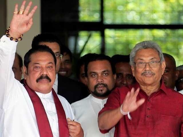 راجا پاکسے کی جماعت اور اتحادیوں نے 225 کے ایوان میں 150 ووٹ حاصل کیے۔ فوٹو: رائٹرز