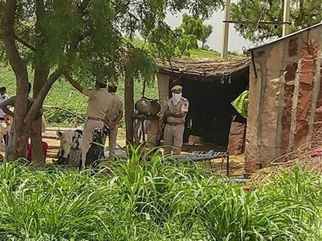 یہ لوگ کھیت میں کام کرتے تھے اور وہی ایک جھونپڑے میں مقیم تھے، فوٹو : ٹائم آف انڈیا