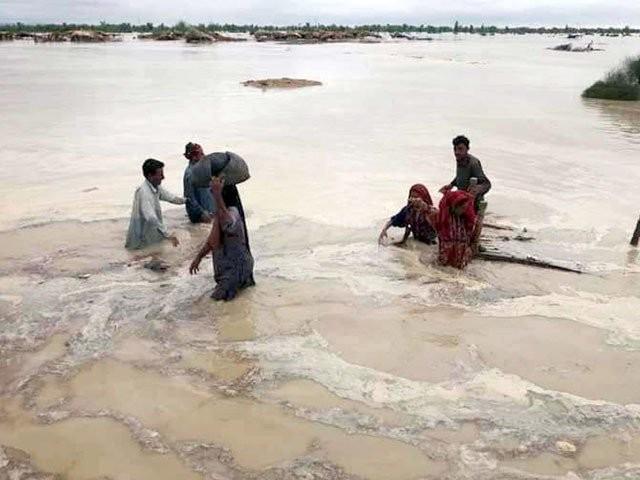متاثرین سیلاب میں امداد ی سامان كی تقسیم جاری ہے، پی ڈی ایم اے ۔ فوٹو : فائل