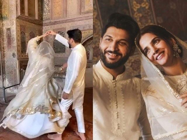 اداکارہ صبا قمر اور بلال سعید نے مسجد میں رقص کرکے مسجد کا تقدس پامال کیا، درخواست کا متن۔ فوٹو:فائل
