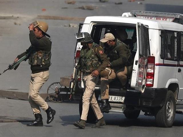 پولیس پارٹی پر حملہ ناؤ گام کے بائی پاس پر کیا گیا، فوٹو : فائل