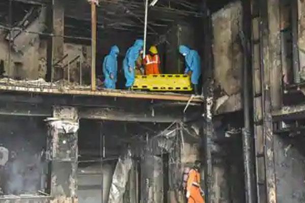 Fire in qurantine hotel india 2