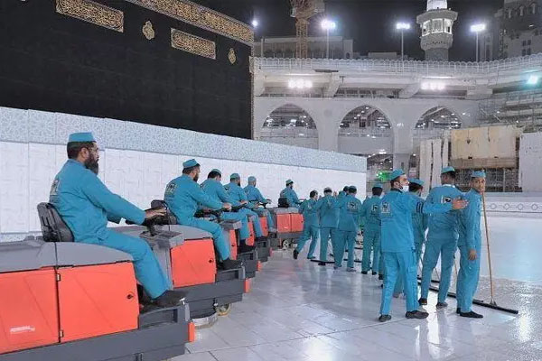 Ka'ba disinfect by 54000 litter senitizer 2