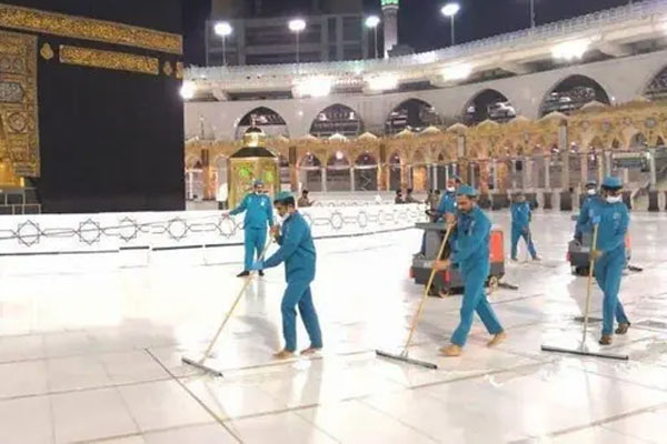 Ka'ba disinfect by 54000 litter senitizer 3