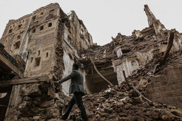 Yemen world heritage building destryed in rain 2