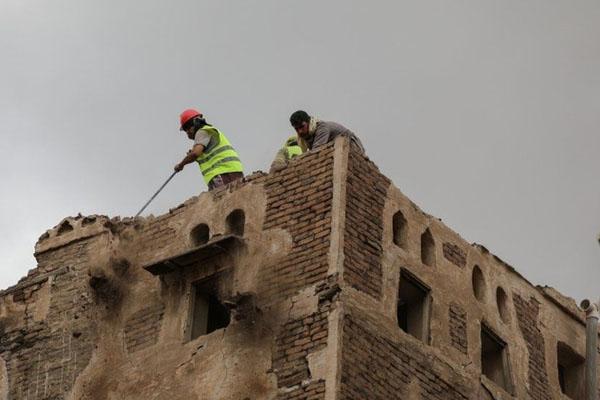 Yemen world heritage building destryed in rain 3