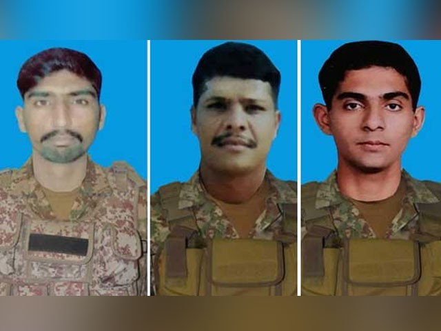 واقعے میں لیفٹیننٹ ناصرحسین ،نائک محمدعمران اور سپاہی عثمان اختر شہید ہوئے ہیں۔(فوٹو، ریڈیو پاکستان)