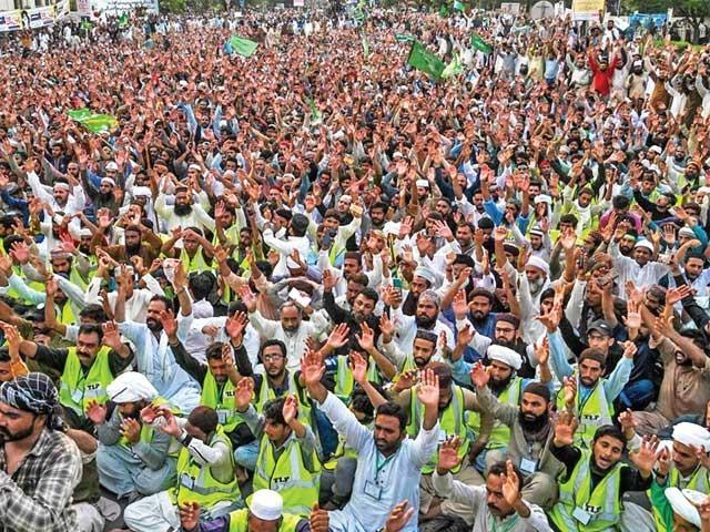 ختم نبوت الائنس، تنظیم الاخوان، مجلس وحدت مسلمین، تحریک لبیک کے شہر شہر اجتماعات ۔  فوٹو : ایکسپریس