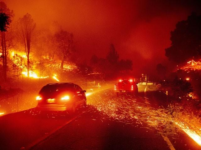 آگ نے اوریگن، کیلی فورنیا اور واشنگٹن کے جنگلات کو لپیٹ میں لے لیا ہے، فوٹو : فائل