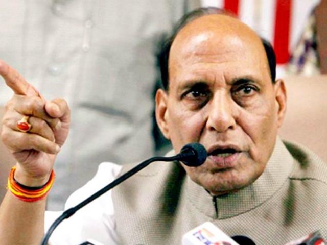 ملکی مفاد میں چاہے کتنے ہی سخت اقدامات کرنا پڑیں بھارت پیچھے نہیں ہٹے گا، راج ناتھ۔ فوٹو: فائل