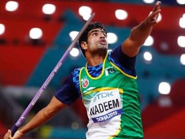 جیولین تھرو ایونٹ میں ارشد ندیم اولمپکس میں براہ راست کوالیفائی کرنے کا اعزاز رکھتے ہیں۔ فوٹو : ایکسپریس