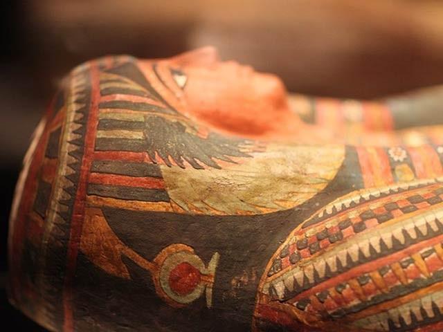 قاہرہ سے  30 کلومیٹر دور سقارہ کے مقام پر ڈھائی ہزار سال پرانے 13 تابوت ملے ہیں۔ فوٹو: رائٹر