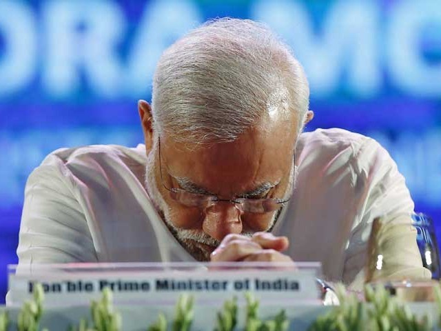 بھارتی وزیر اعظم کے اقوام متحدہ سے خطاب کے موقعے پر کشمیر کی حریت قیادت نے شدید احتجاج کیا ہے(فوٹو، فائل)