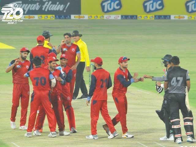 نوجوان بلے باز حیدر علی نے 90 اور ذیشان ملک نے 77 رنز کی اننگز کھیلی - فوٹو: پی سی بی