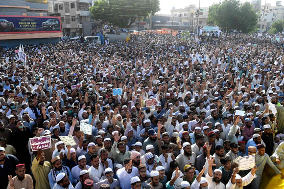 Anti shia protest
