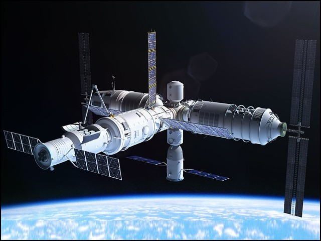 تیانگونگ 3 کے تمام حصے زمین پر الگ الگ تیار کیے جائیں گے جنہیں بعد ازاں خلا میں پہنچا کر جوڑ لیا جائے گا۔ (فوٹو: چائنا ڈیلی)