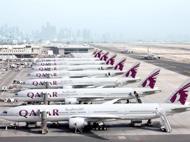 قطر ایئرویز نے دو سال کے لیے اپنے طیارے گراؤنڈ کردیئے، فوٹو : فائل
