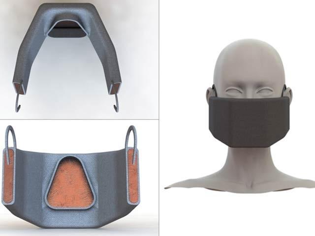 ایم آئی ٹی کے ماہرین نے کورونا وائرس کو تلف کرنے کے لیے گرم ماسک بنایا ہے۔ فوٹو: ایم آئی ٹی