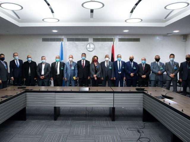 اقوام متحدہ کی ثالثی میں فریقین کے وفد نے جنیوا میں جنگ بندی معاہدے پر دستخط کردیئے، فوٹو : ٹویٹر