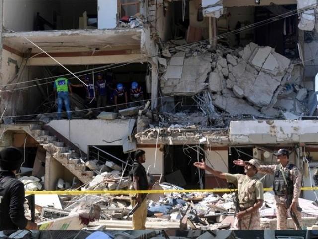 گیس لیک ہوتی تو دھماکے کے بعد بڑی آگ لگتی،ترجمان ایس ایس جی سی ۔ فوٹو : فائل