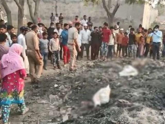 لاش کے ٹکڑوں کو فرانزک لیب بھیج دیا گیا، فوٹو : بھارتی میڈیا
