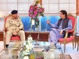 وزیراعظم عمران خان سے آرمی چیف جنرل قمر جاوید باجوہ کی ملاقات کی, وزیراعظم آفس. فوٹو:فائل