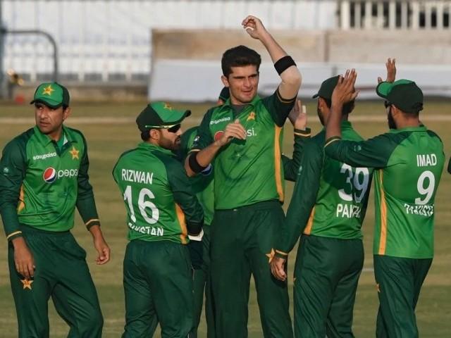 پاکستان کی جانب سے شاہین آفریدی نے 5 اور وہاب ریاض نے 4 وکٹیں حاصل کیں۔ فوٹو: فائل