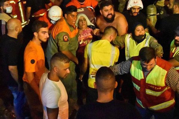 بیروت 2 میں ایندھن کے ٹینک دھماکے