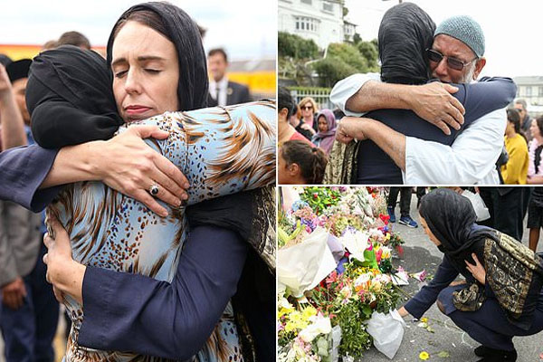 Jasenda hugging victim families