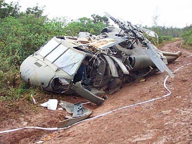 ہیلی کاپٹر تکنیکی خرابی کی وجہ سے فوٹو فوٹو: فائل