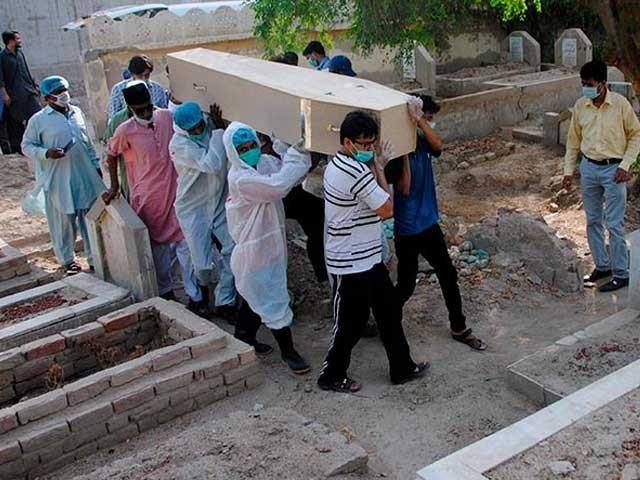ملک بھر میں کورونا سے اموات کی مجموعی تعداد 7662 ہوئی فوٹو: فائل