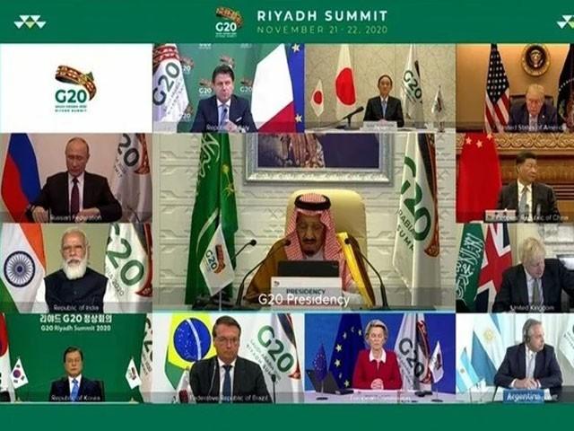 ریاض میں جی-20 کا دو روزہ ورچوئل اجلاس سعودی عرب کی میزبانی میں منعقد ہوا، فوٹو : سعودی میڈیا