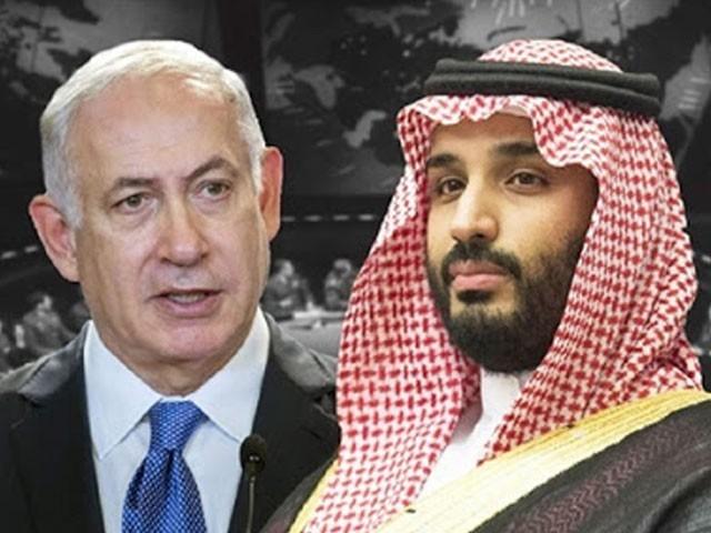 سعودی عرب، اسرائیل اور امریکا نے اس ملاقات کی نہ تو تردید کی اور نہ تصدیق۔ فوٹو: ٹویٹر