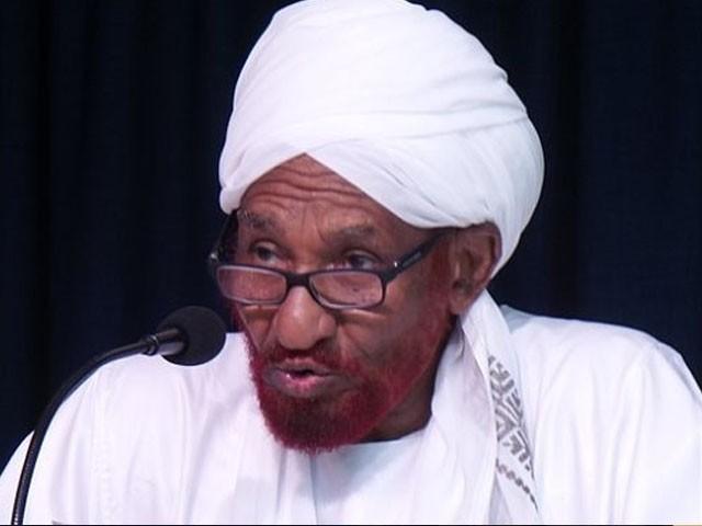 صادق المہدی ملک کے آخری جمہوری وزیراعظم تھے، فوٹو: فائل