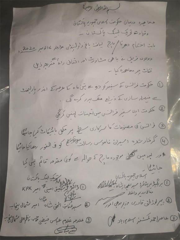 Tehreek Labbek and govt faizabad protest