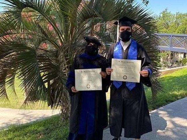 سعودی بیٹے کو اسکالرشپ پر امریکا بھیجا گیا تھا، فوٹو : عرب میڈیا