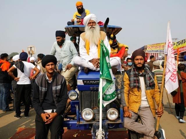 کسانوں کی احتجاج میں شدید لانے اور ملک گیر ہڑتال کی اعلان کی اطلاع (فوٹو ، رائٹرز)
