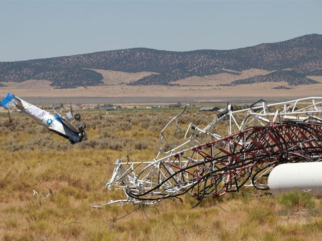طیارے میں دو افراد سوار تھے اور دونوں موقع پر ہی ہلاک ہوگئے، فوٹو : فائل