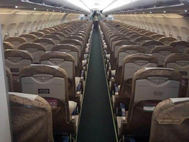 طیارے کی 370 نشستوں پر صرف ایک مسافر سوار ہوکر اسلام آباد پہنچا(فوٹو، فائل)