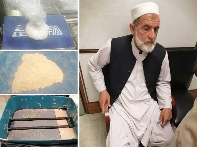 لاکھوں روپے مالیت کی منشیات 1.376کلو گرام ہیروئن اور 202 گرام آئس شامل ہیں . فوٹو : فائل