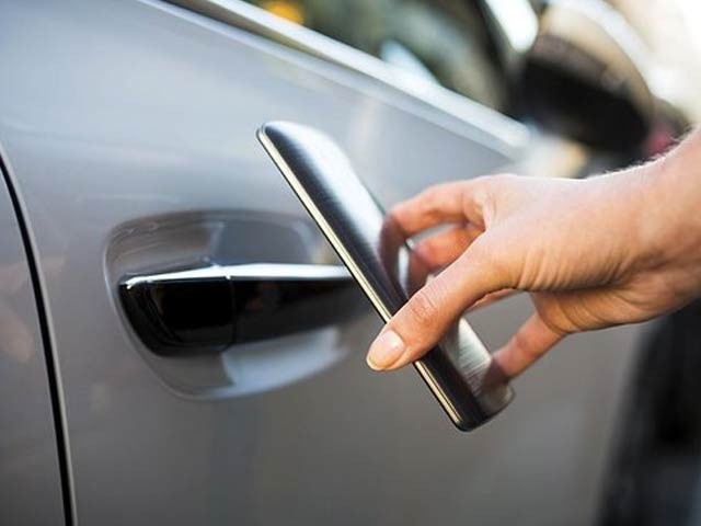 سام سنگ ڈجیٹل کی بدولت آپ کے فون سے گاڑی کی تلاش اور کام کھولنا بھی ہے۔  فوٹو فائل
