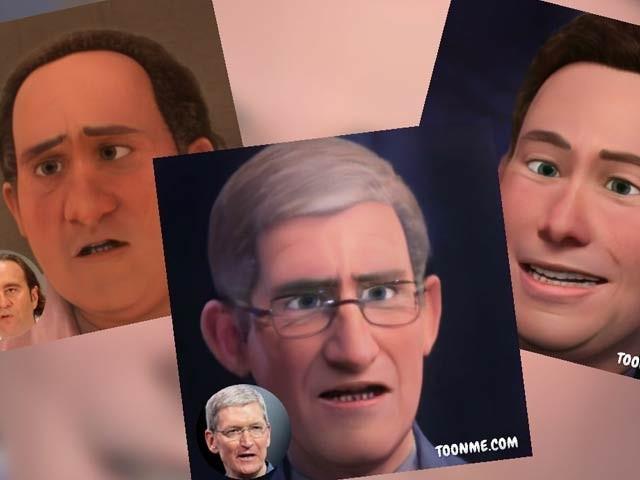 ٹون می ایپ آپ کو ڈزنی پِکسار کے کرداروں میں تبدیل کردیتی ہے۔ فوٹو: بورڈ پانڈا