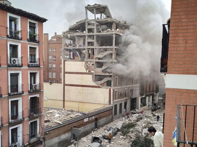 دھماکا عمارت میں گیس کے اخراج کے باعث ہوا، میئر میڈرڈ ( فوٹو : ٹوئٹر)