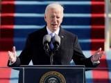 تقریب حلف برداری سے خطاب میں صدر بائیڈن نے اتحاد اور جمہوری اقدار کی اہمیت پر زور دیا(فوٹو، رائیٹرز)