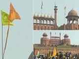 کسانوں کی ریلی لال قلعہ پہنچنے میں کامیاب، فوٹو : بھارتی میڈیا