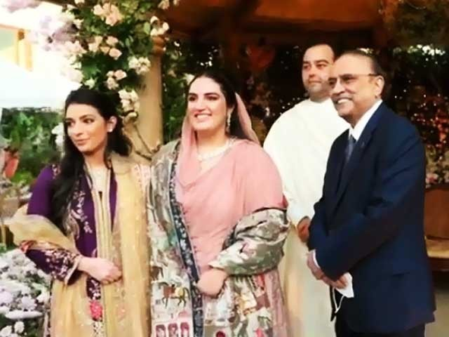 بختاورکی شادی اسلام آباد،لاہوراور لاڑکانہ میں بڑی تقاریب ہوں گی . فوٹو : فائل