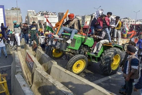 Tractor rally at lal qila 2