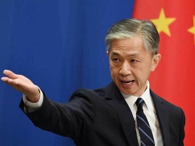 چین کے دفتر خارجہ کے ترجمان وانگ ویبائنائن نے سنیئر سفارتی اہل کار کے عمل کو کوڈ نہیں کیا۔ (فوٹو ، فائل)