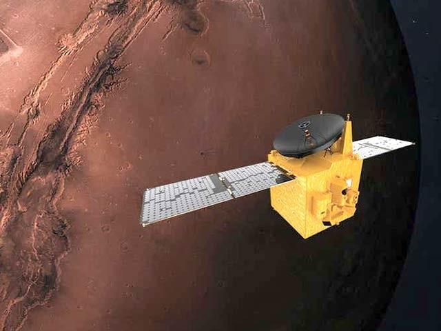 متحدہ عرب امارات کا پہلا مریخی مشن اب سرخ سیارے سے صرف تین دن کی دوری پر ہے۔ فوٹو: بشکریہ نیوسائنٹسٹ