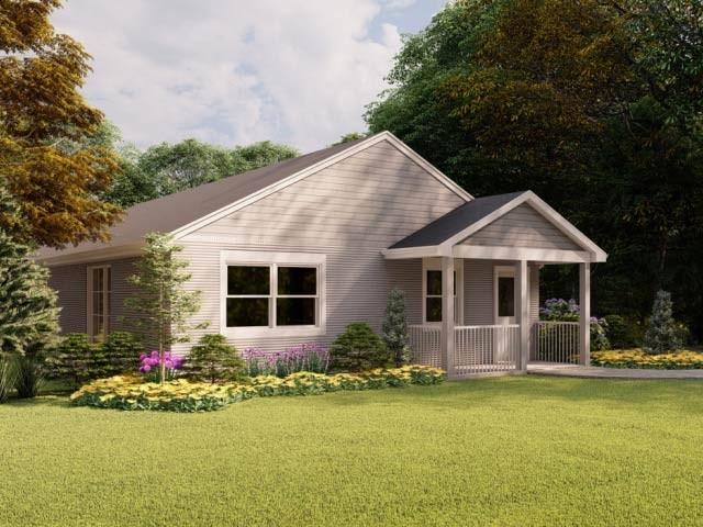 نیویارک میں تھری ڈی پرنٹر سے چھاپہ گیا یہ گھر روایتی مکان سازی کے اخراجات میں نصف کمی لاسکتا ہے۔ فوٹو: سی این این ایک ایس ٹی ٹی وی